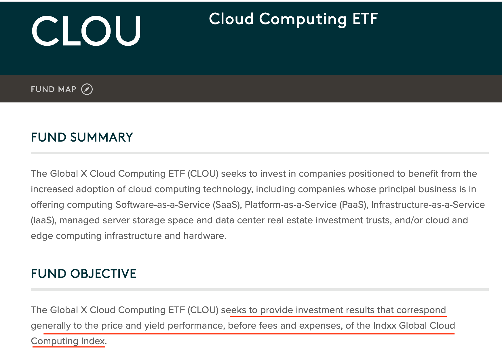 CLOU is a passively managed thematic ETF