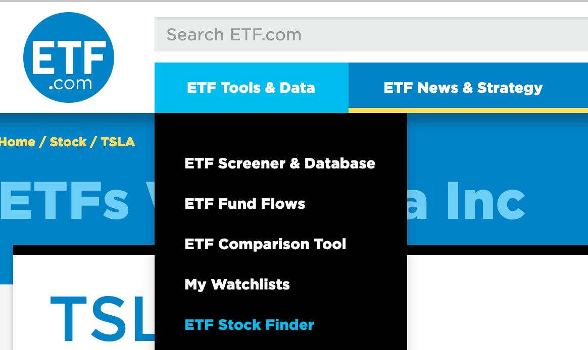ETF.com has a great stock finder tool you can use to identify thematic ETFs
